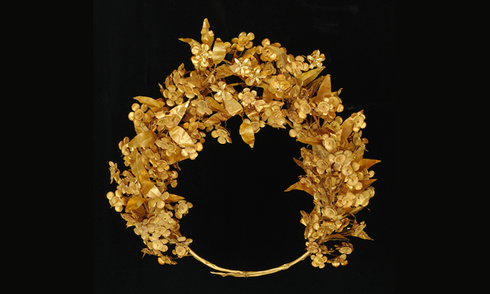 gold myrtle crown