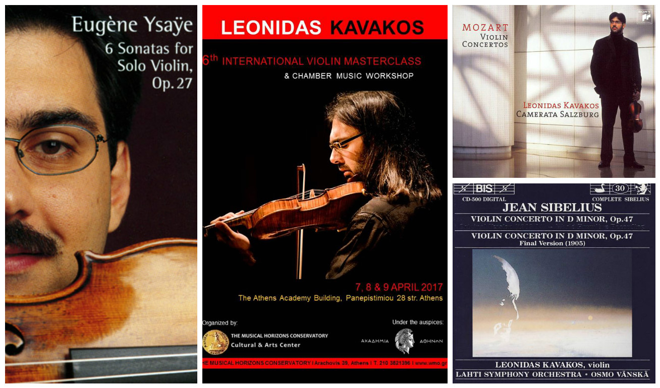 Kavakos albums and masterclass
