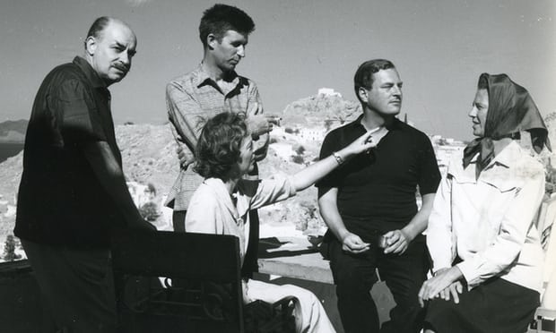 Nikos and Barbara Hadjikyriakos Ghika with John Craxton Patrick Leigh Fermor and Joan Fermor in 1958 Photograph Benaki Museum Ghika Gallery Athens Benaki Museum
