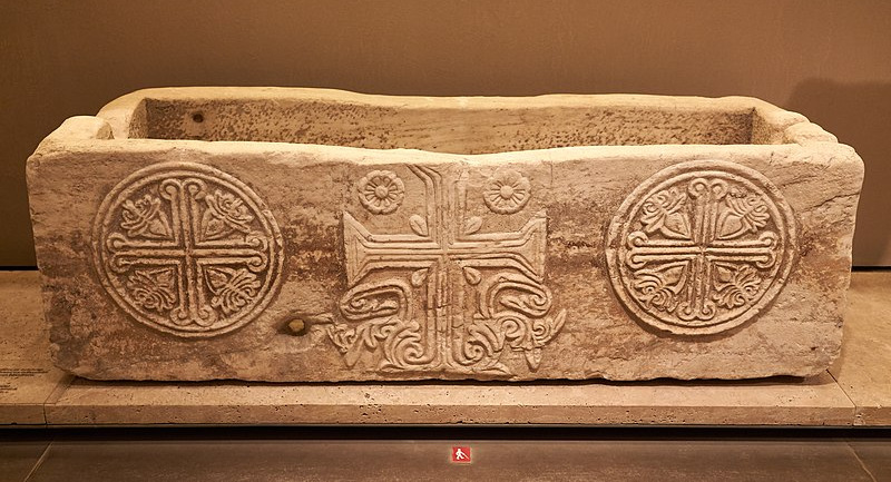 800px Marble monolithic sarcophagus. 11th cent. A.D