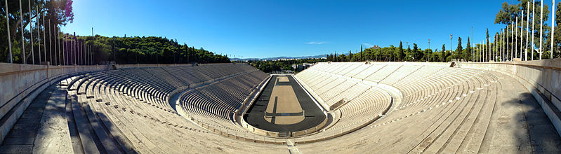 Panathenaic stadium panorama